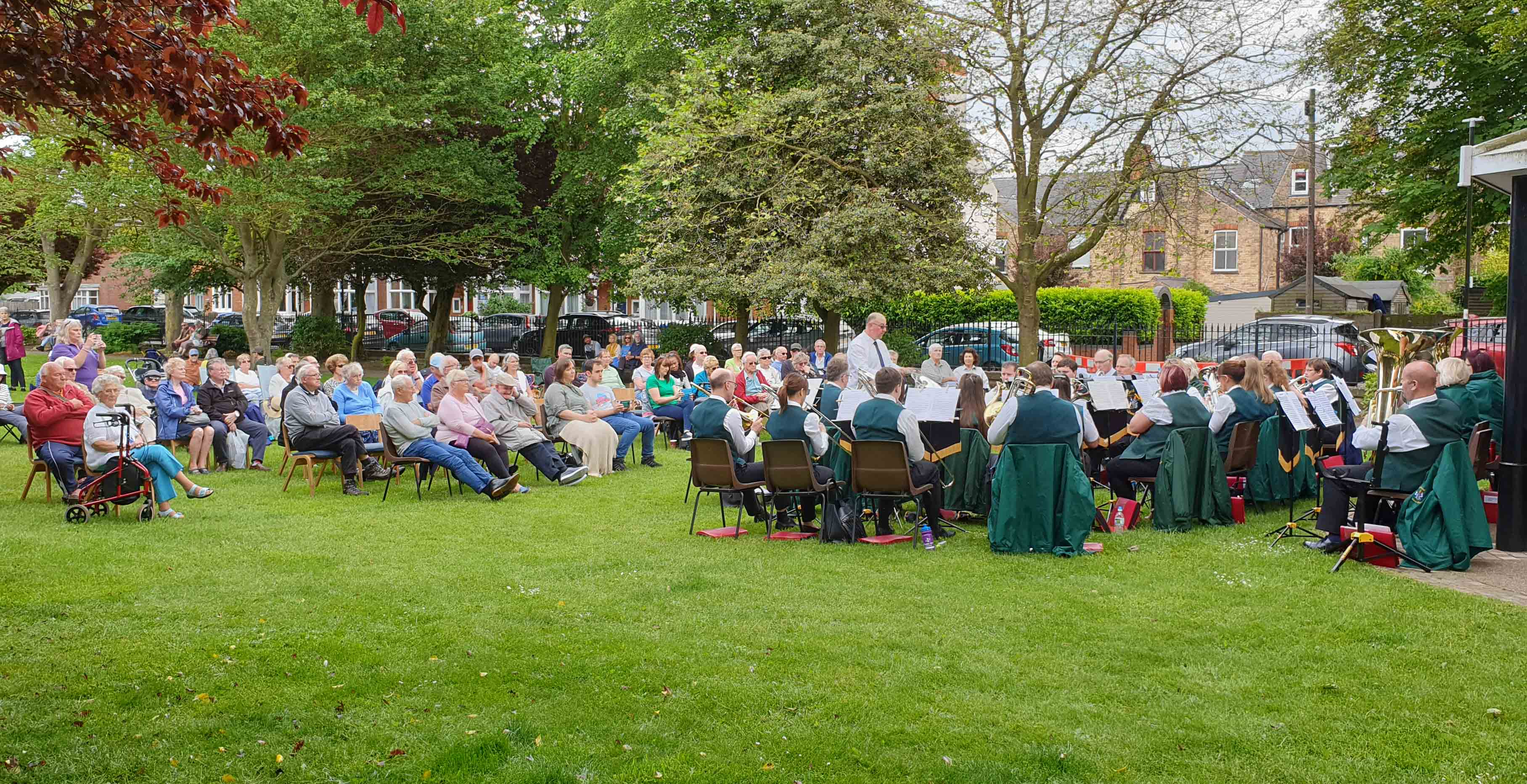 Hornsea- June 2019 Crowd enjoying an afternoon's music